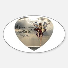 Fairy Sparkle Oval Decal