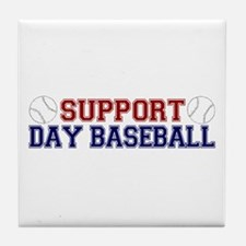 Support Day Baseball Tile Coaster