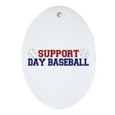 Support Day Baseball Oval Ornament