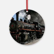 Steam Locomotive Ornament (Round)