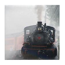 Steam Engine Railroad Tile Coaster