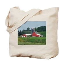 Red Barn On A Farm Tote Bag