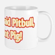 Retro Pitbull, Not Pig, w/Lipstick Mug