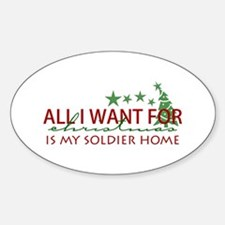 All I want for Christmas Oval Decal