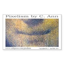 Mona Lisa Pixelism by C. Ann Rectangle Decal