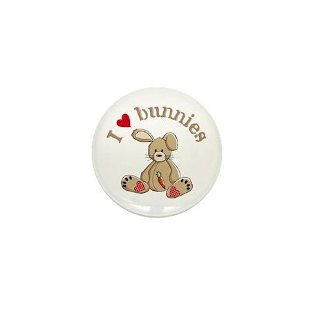 I love bunnies Mini Button (10 pack)