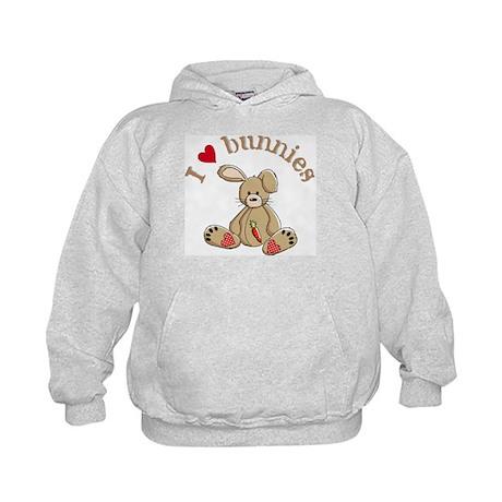 I love bunnies Kids Hoodie