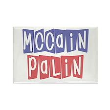 McCain Palin Retro Logo (3) Rectangle Magnet
