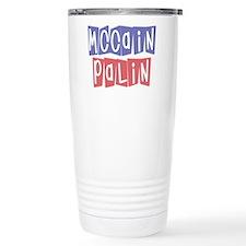 McCain Palin Retro Logo (3) Travel Mug