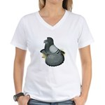 English Trumpeter Blue Women's V-Neck T-Shirt
