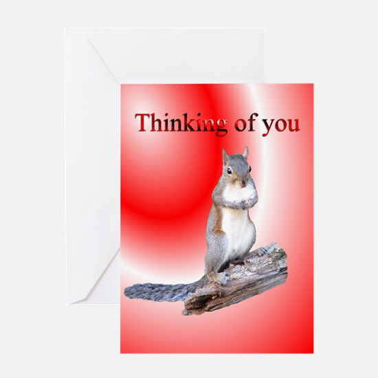 Squirrel Thinking of You Greeting Card