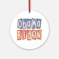 Retro Obama Biden Logo Ornament (Round)