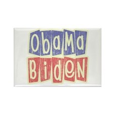 Retro Obama Biden Logo Rectangle Magnet
