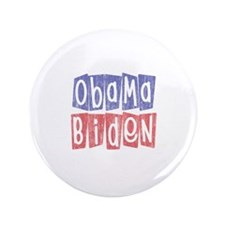 "Retro Obama Biden Logo (2) 3.5"" Button"
