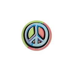 Painted Peace Sign Mini Button (10 pack)