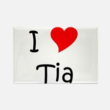 Cute Tia Rectangle Magnet