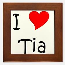 Cute Name tia Framed Tile