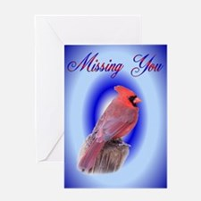 Cardinal Missing You Greeting Card
