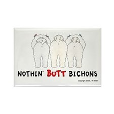 Nothin' Butt Bichons Rectangle Magnet (100 pack)