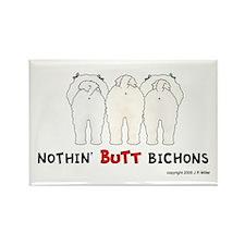 Nothin' Butt Bichons Rectangle Magnet