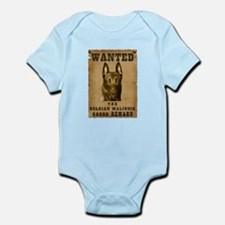 """Wanted"" Belgian Malinois Infant Bodysuit"