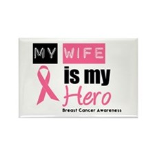 Breast Cancer Hero Rectangle Magnet (10 pack)
