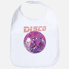 Pink Disco Ball Bib