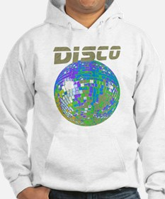 Blue-Green Disco Ball Hoodie Sweatshirt