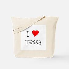 Cute I love tessa Tote Bag