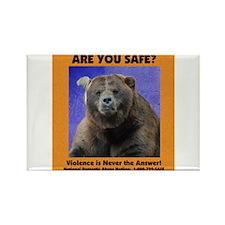 Domestic Violence Awareness Rectangle Magnet