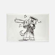 Catoons Trombone Cat Rectangle Magnet
