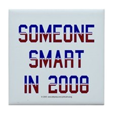 Someone smart '08. Tile Coaster