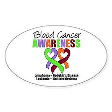 BloodCancerAwareness Oval Sticker (10 pk)