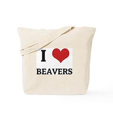 I Love Beavers Tote Bag
