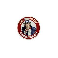 Obama-Biden Gay Pride 01 Mini Button (10 pack)
