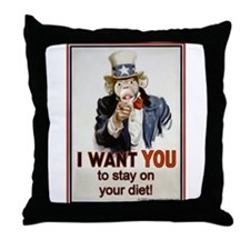 Stay on your Diet Throw Pillow