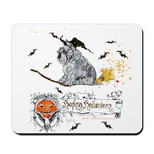 Schnauzer Halloween Tricks Mousepad