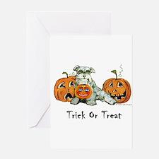 Schnauzer Halloween Dog Greeting Card