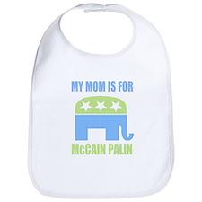 Boys My Mom is for McCain Bib