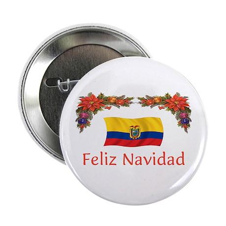 """Ecuador Feliz Navidad 2 2.25"""" Button"""