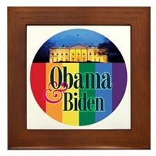 Obama-Biden Gay Pride 08 Framed Tile