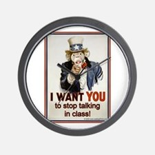 Stop Talking in Class Wall Clock