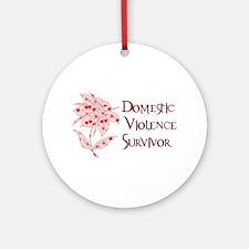 Domestic Abuse Survivor Ornament (Round)