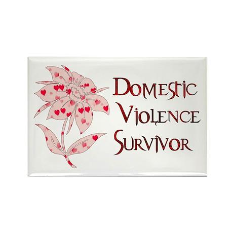 Domestic Abuse Survivor Rectangle Magnet (10 pack)