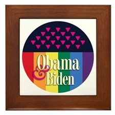 Obama-Biden Gay Pride 11 Framed Tile