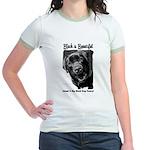 Adopt a Big Black Dog Jr. Ringer T-Shirt