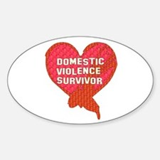 Violence Survivor Oval Decal