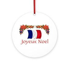 France Joyeux Noel 2 Ornament (Round)
