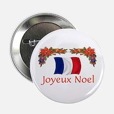"""France Joyeux Noel 2 2.25"""" Button"""