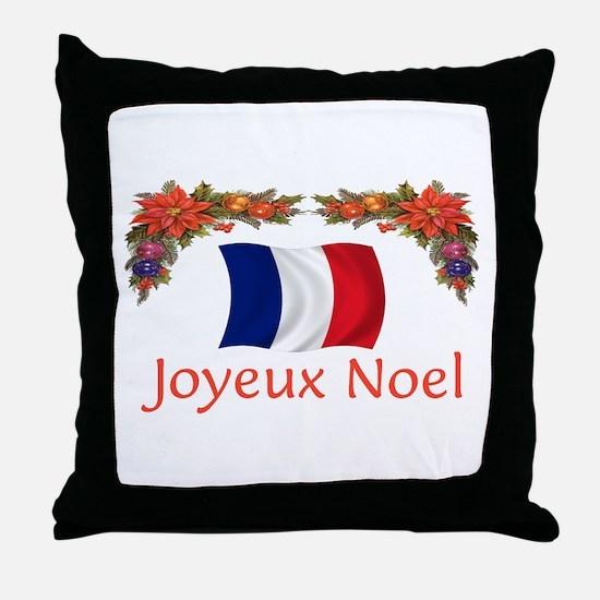 France Joyeux Noel 2 Throw Pillow